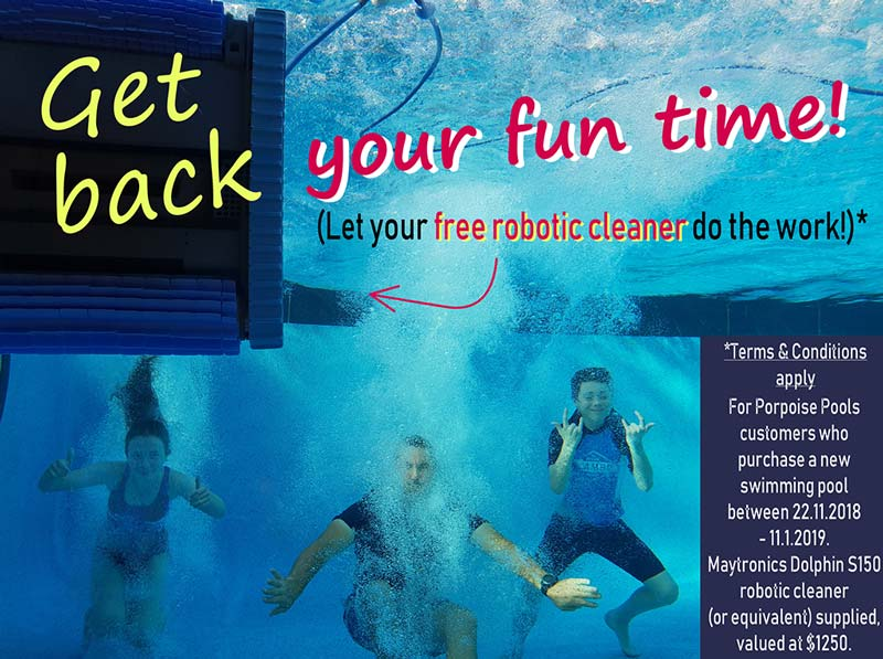 Robot Pool Cleaner Give-Away Promotion